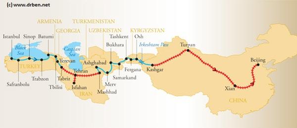 Современный шёлковый путь. Источник: www.drben.net